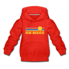 New Mexico Youth Hoodie - Retro Sunrise Youth New Mexico Hooded Sweatshirt