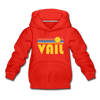 Vail, Colorado Youth Hoodie - Retro Sunrise Youth Vail Hooded Sweatshirt