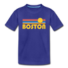 Boston, Massachusetts Youth T-Shirt - Retro Sunrise Youth Boston Tee