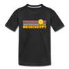 Massachusetts Youth T-Shirt - Retro Sunrise Youth Massachusetts Tee