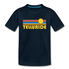 Telluride, Colorado Youth T-Shirt - Retro Sunrise Youth Telluride Tee