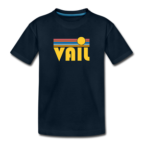 Vail, Colorado Youth T-Shirt - Retro Sunrise Youth Vail Tee