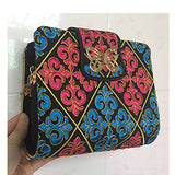 Vintage Embroidered Canvas Handbag