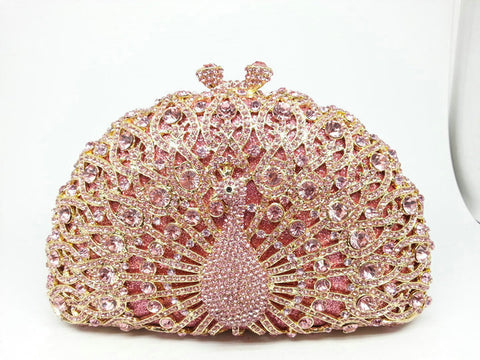 Bejeweled Pink Peacock