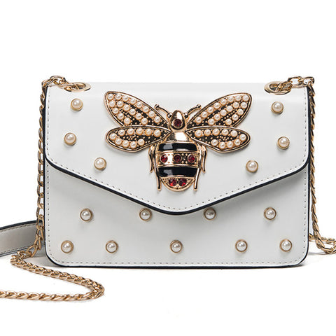 Rhinestone Bee Purse