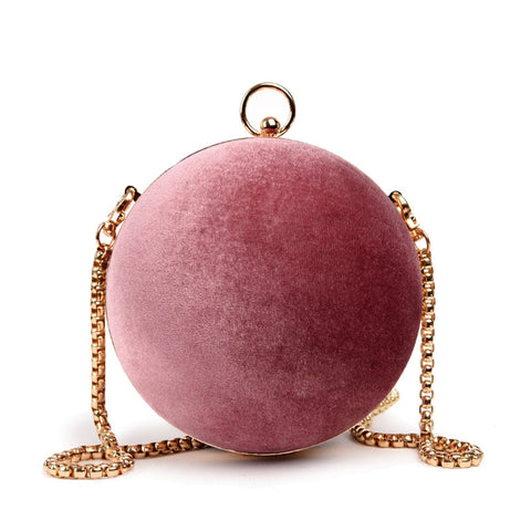 Velvet Globe Shoulder Bag