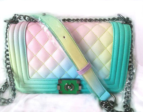 Rainbow Gradient Shoulder Bag