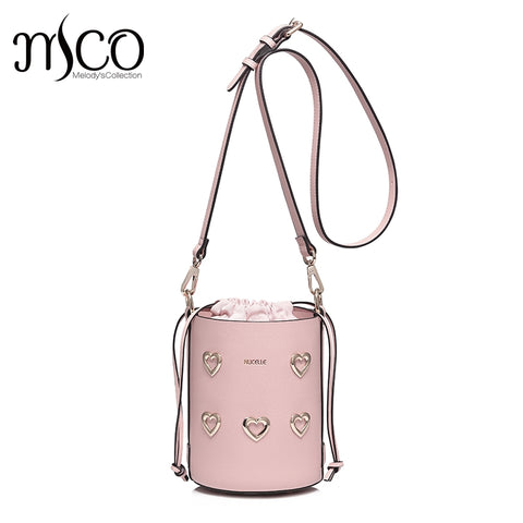 Pink Bucket Messenger Bag