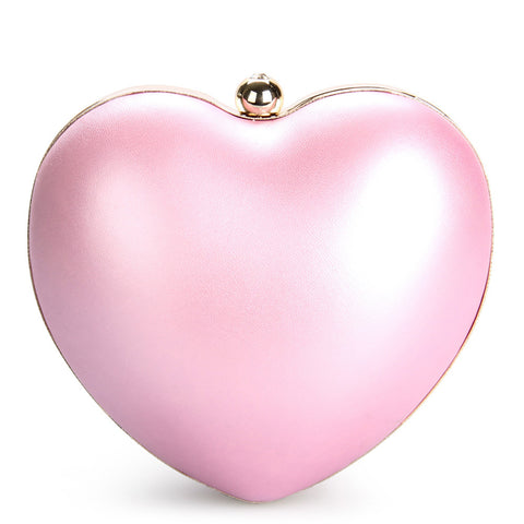 Shimmering Heart-Shaped Clutch