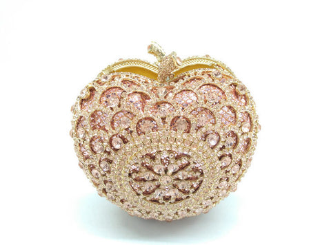 Bejeweled Apple Clutch