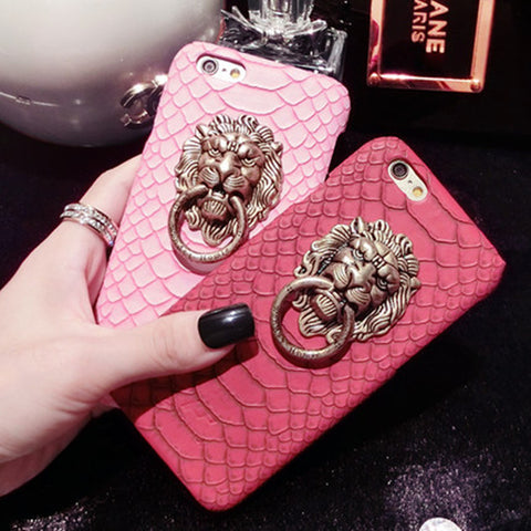 Snakeskin and Lion Cellphone Case