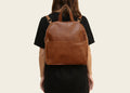 Round Backpack Brown