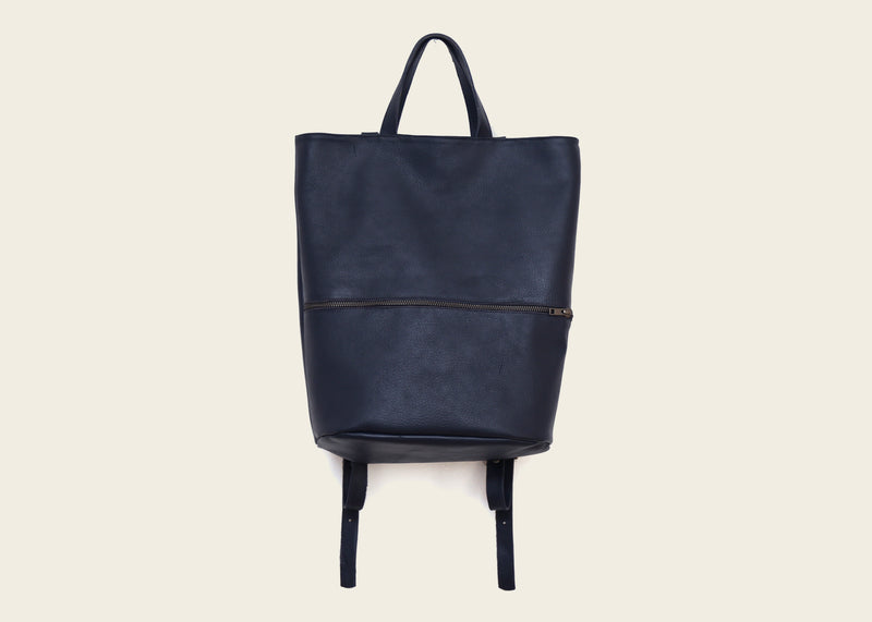 Square Backpack Blue