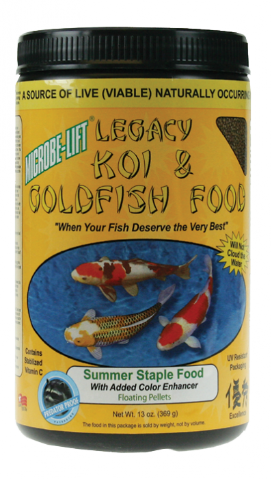 Microbe-Lift Legacy Koi and Goldfish Food - Summer Staple 10 oz.