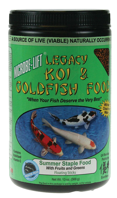 Microbe-Lift Legacy Koi and Goldfish Food - Fruits & Greens 10 oz..
