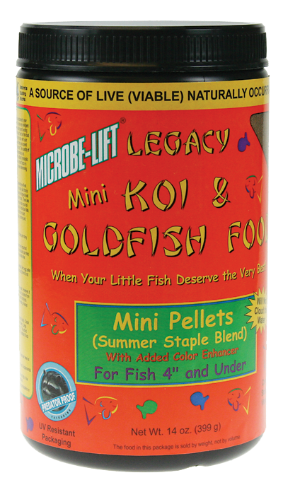Microbe-Lift Legacy Koi and Goldfish Food - Mini Pellet 12 oz.