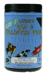 Microbe-Lift Legacy Koi and Goldfish Food - Sinking Pellets 14 oz.