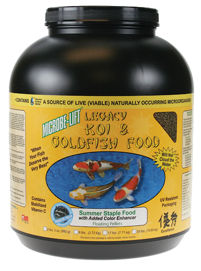 Microbe-Lift Legacy Koi and Goldfish Food - Summer Staple 4 lb. 12 oz.