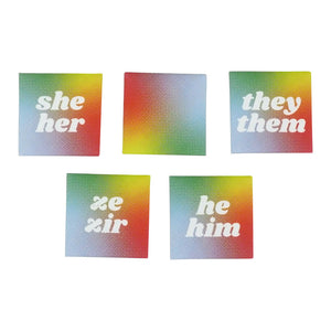 Pronoun Magnetic Buttons