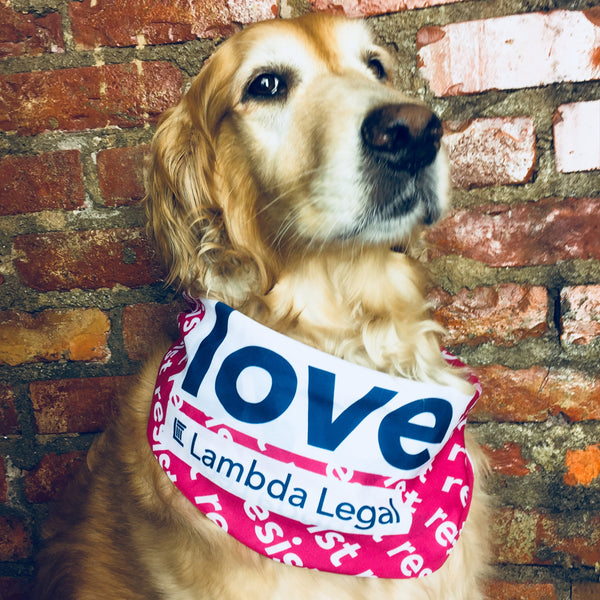 Lambda Love and Resist Bandana
