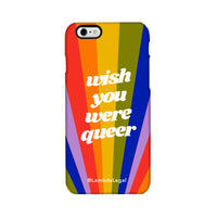 Wish You Were Queer iPhone Case