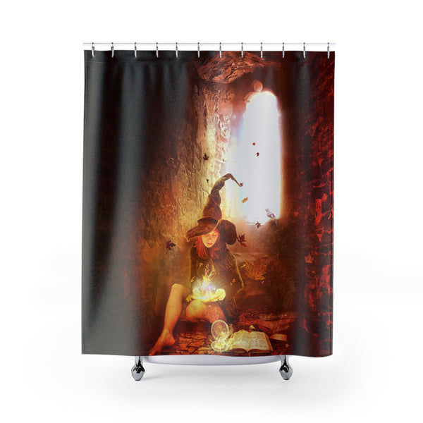 The Single Witch Custom Shower Curtain