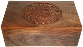 Wood Box: Pentagram carving