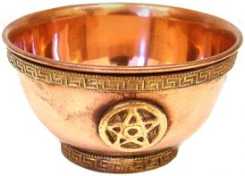 Copper Offering Bowl: Pentagram