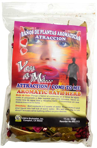 Attraction aromatic bath herb