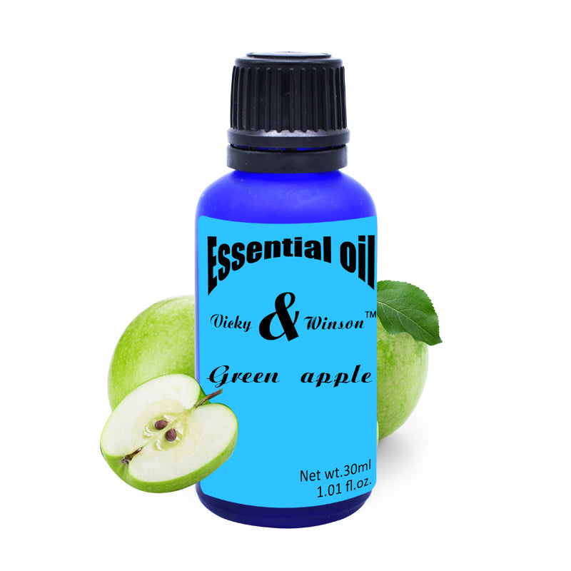 Vicky&winson Green apple aromatherapy essential oils 100% pure plant essential oil Apple Oil Sleep aids Defecation Spleen VWXX15