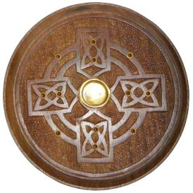 Wooden Celtic Cross Incense Burner