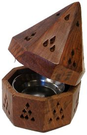 Wooden Temple Cone & Charcoal Burner
