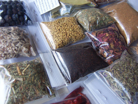 Wicca Herbs Botanica - 15 Herbs - Coven Pagan Spell Supplies - Hyssop Rose Fenugreek Cloves Mugwort Cedar Juniper Peppermint Nettle