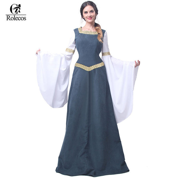 Retro Clothing Renaissance Medieval Gothic Long Dress