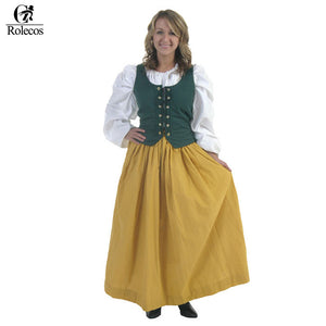 Vintage Renaissance Medieval Long Dress