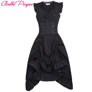 Belle Poque Medieval Lace-Up Corset Dress