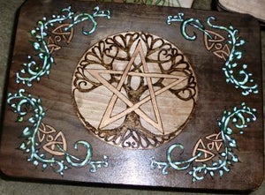 Twining Vine Pentagram Altar Table