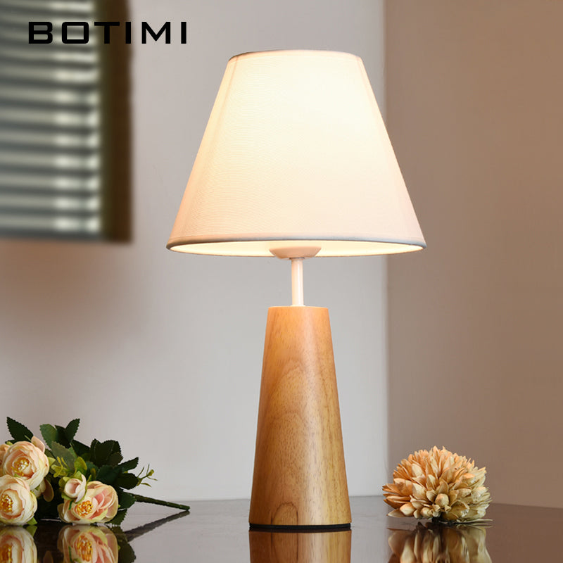 Contemporary Wooden Table Lamp