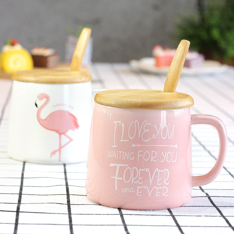 Brand-new Wooden Lid Mug With Spoon – Shawn & Candice Home MM18