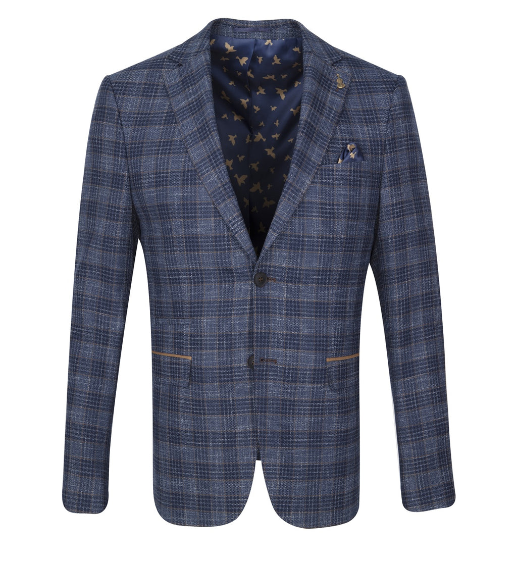 Fratelli Uniti Tailored FitCheck Blazer - Navy 1043 - jjdonnelly