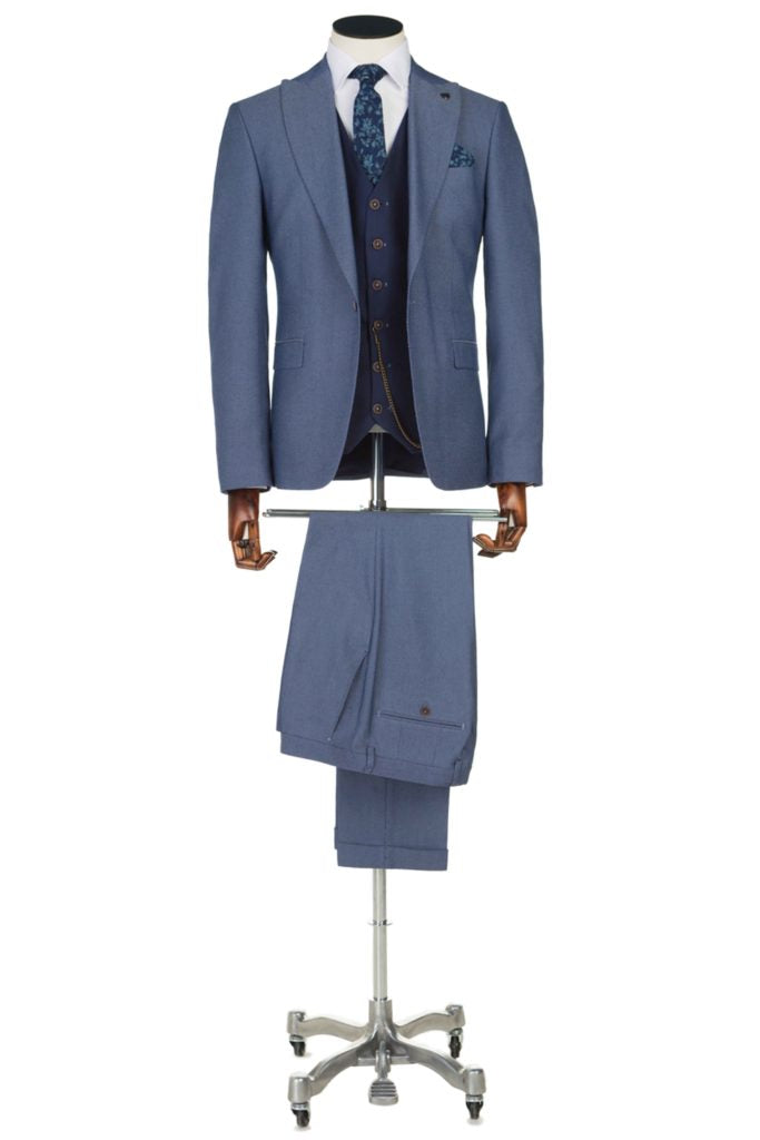 Benetti Suarez 3 Piece Suit - Blue - jjdonnelly