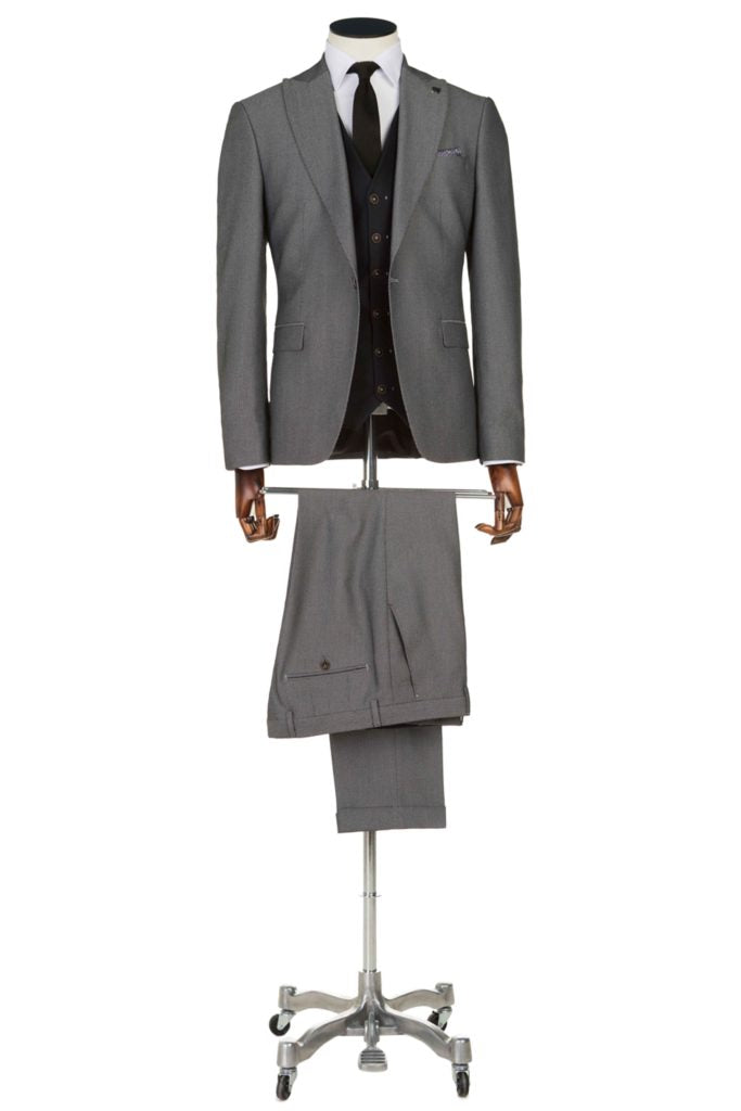 Benetti Suarez 3 Piece Suit - Grey - jjdonnelly
