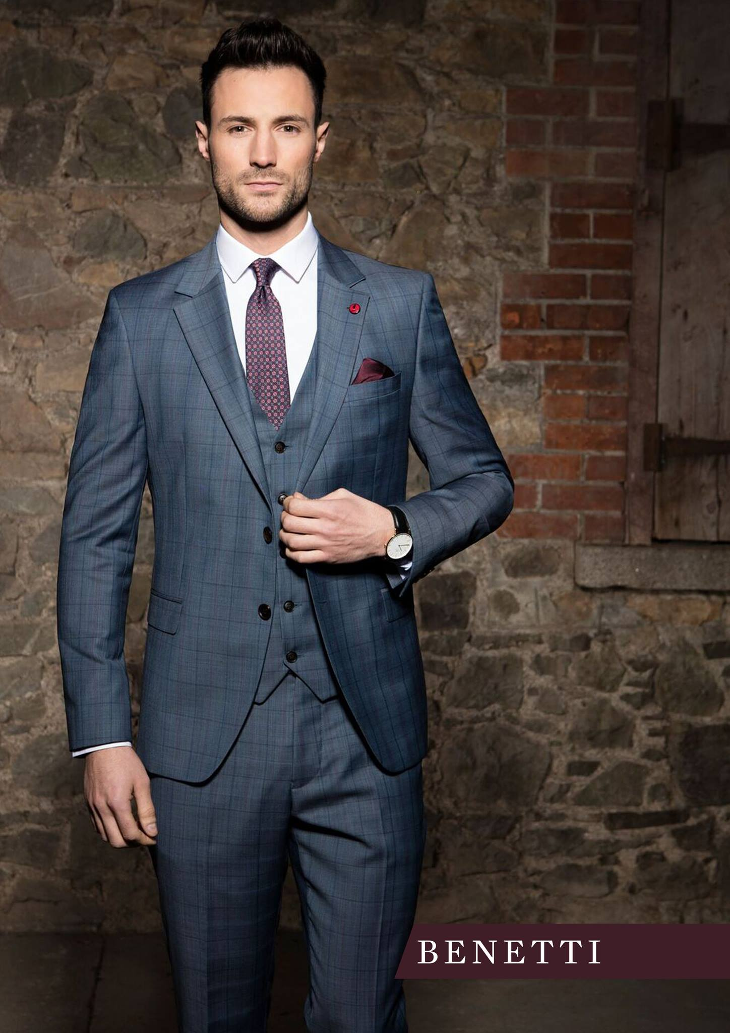 Benetti Bonn 3 Piece Suit - Ice Blue - jjdonnelly
