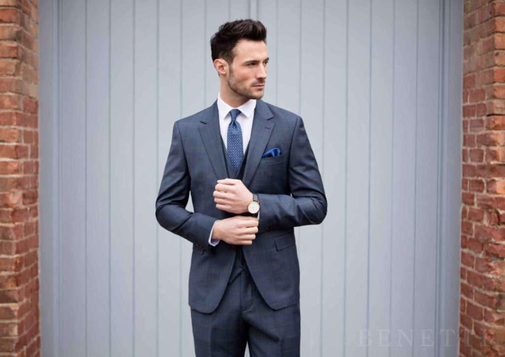 Benetti Bonn 3 Piece Suit - Navy - jjdonnelly