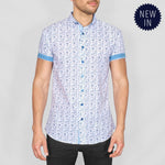Bewley & Ritch Copla Shirt - White/Turq