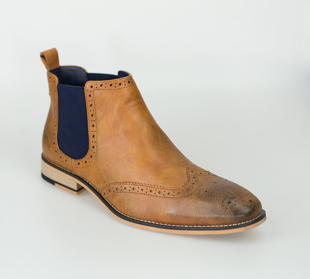 Cavani Hound Chelsea Boot Tan - jjdonnelly