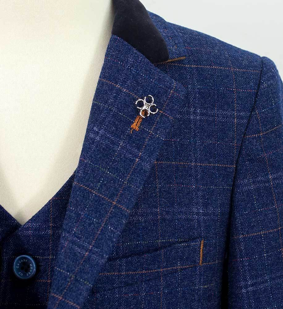 Cavani Boys Kaiser Blue Suit - jjdonnelly