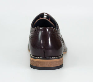 Cavani Oxford Brogue - Wine - jjdonnelly