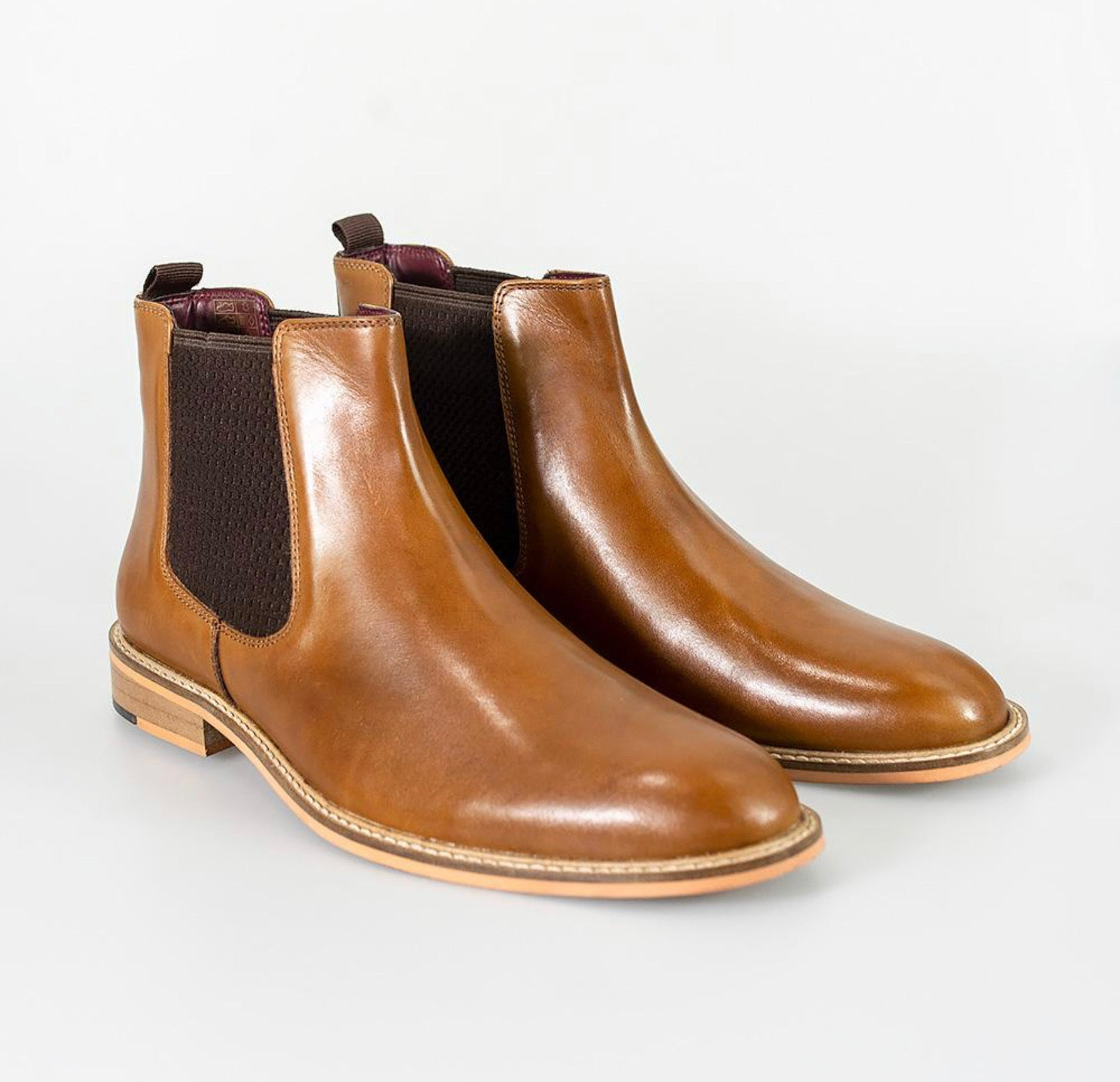 Cavani Watson Dealer Boot - Tan - jjdonnelly