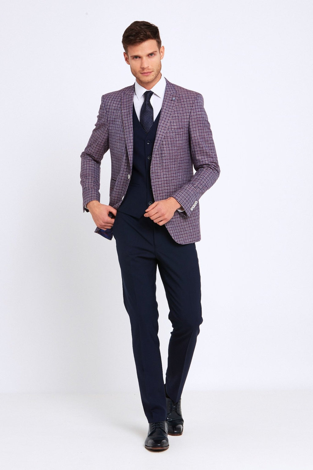 Benetti Darcy 3 Piece Suit - Wine